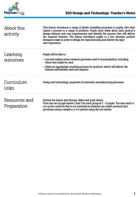 KS3 Design & Technology Lesson Plan for Polymer